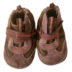 Robeez Brown Leather Sneakers